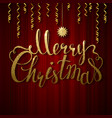 Holiday banner with decoration festive red vector image