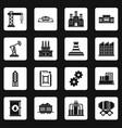 industry icons set squares vector image