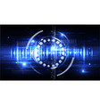 technological cybersecurity identification vector image