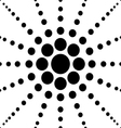 seamless black polka flower abstract pattern vector image