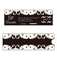 elegant discount gift voucher is brown with white vector image