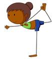 Girl and yoga vector image vector image