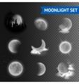 Moonlight transparent set vector image