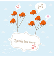 Flying birds with banner vector image vector image