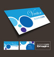 A front and back business card vector image