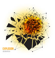 abstract explosion with sharp debris vector image