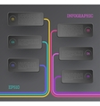 Banners infographic vector image
