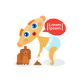 cute baby boy playing with dog toddler happy vector image