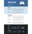 CV resume template vector image