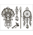 dead chief designer set vector image
