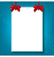 Empty blank A4 size Holiday mock up poster vector image