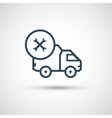 Icon for vehicle delivery services and goods vector image