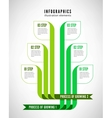Infographics process vector image