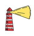 lighthouse cartoon hand drawn image vector image