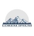 mountain peak logo vector image