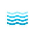 print sea waves vector image