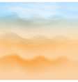 Summer sea beach background vector image