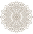 Template with Mandala lace ornament vector image