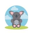 tender cute koala bear card icon vector image