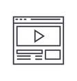 video marketingonline video clip line icon vector image
