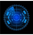 Radar screen for your design vector image