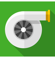 Colorful turbocharger icon in modern flat style vector image