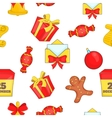 Christmas pattern cartoon style vector image