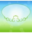 Freen frame on nature background vector image vector image