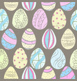 easter eggs color pattern vector image vector image