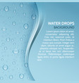 water drops realistic background with stripe for vector image