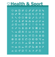 Healthcare and sport icon set vector image
