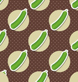 cucumber pattern Seamless texture with ripe green vector image
