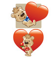 bear in love vector image vector image