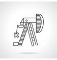 Oil pump jack outline icon vector image