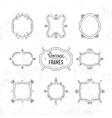 Set of 9 cute vintage frames vector image
