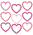 rose heart frames vector image