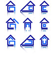 icon set for construction vector image