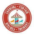 Circus carnival entertainment vector image