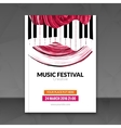 Music festival poster background Flyer template vector image