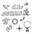 Australia tourism nature and culture icons set vector image