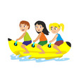 banana boat water extreme sports isolated design vector image