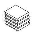books piled up 3d vector image