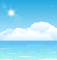 Clouds on water vector image