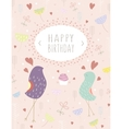 greeting template card vector image