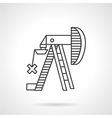 Oil pump jack outline icon vector image