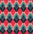 retro red rhombus seamless pattern vector image