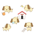 Set of dogs in various positions vector image