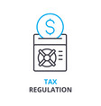 tax regulation concept outline icon linear sign vector image