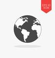 World globe icon Flat design gray color symbol vector image