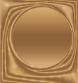 gold picture frame center of the circle vector image